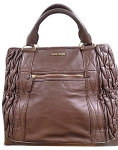 Miu Miu Satchel in Chocolate Brown