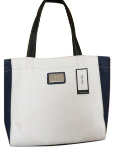 Nine West Satchel in Ivory And Navy
