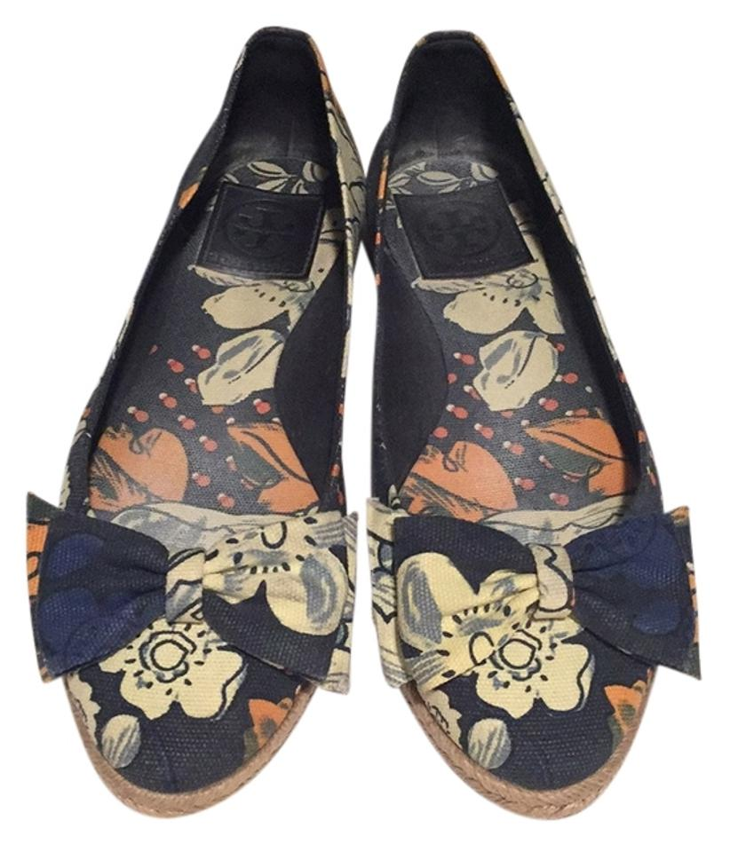 0cb6aefc57a9 Tory Burch European Party Casual Ballet Bow Cotton Canvas Textured Print  Espadrille Nordstroum Jute Bloomingdales Navy ...