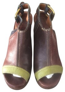 Lucky Brand Brown/Green&Blue Wedges