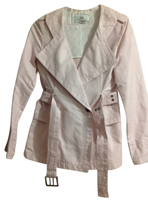 Preload https://item1.tradesy.com/images/carolina-herrera-pale-pink-short-trench-coat-size-6-s-6676690-0-0.jpg?width=400&height=650