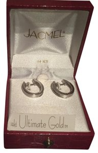 jacmel White Gold Diamond Hoops