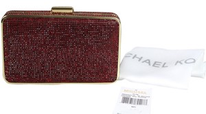 Michael Kors Red/Gold Clutch