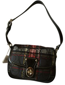 Coach Multi Colored Plaid Clutch