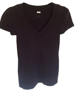 Three Dots V-neck T Shirt Black Wash
