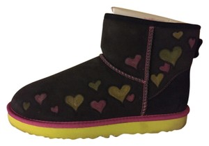 UGG Australia Brown, Pink and Neon Green Boots