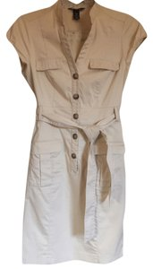 H&M short dress Cream Belted on Tradesy