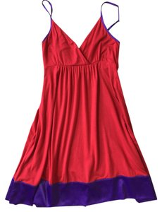 Express short dress Red with Purple Trim on Tradesy