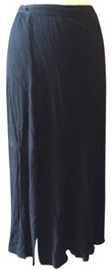 Veronica M M Wrap Pool Summer Fall Maxi Skirt Blac