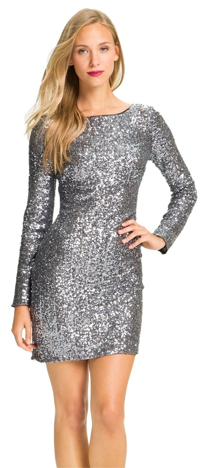 b10a0ea6eef Aidan Mattox V-back Sequins Bateauneck Fitted Lined Polyester Dress Image 0  ...