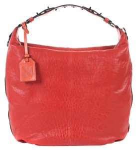 Reed Krakoff Leather Orange Krakoff Cadet Krakoff Hobo Satchel in Red