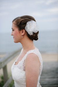 Erin Cole Bridal Couture Lace Flower Hairpiece