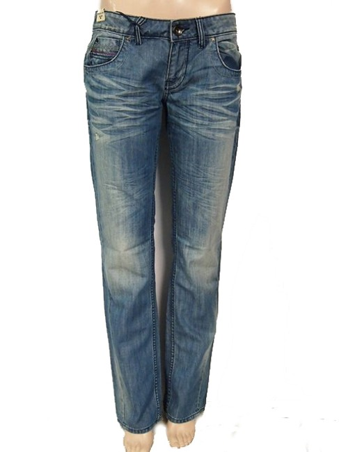 Miss Sixty Distressed Relaxed Fit Jeans-Light Wash