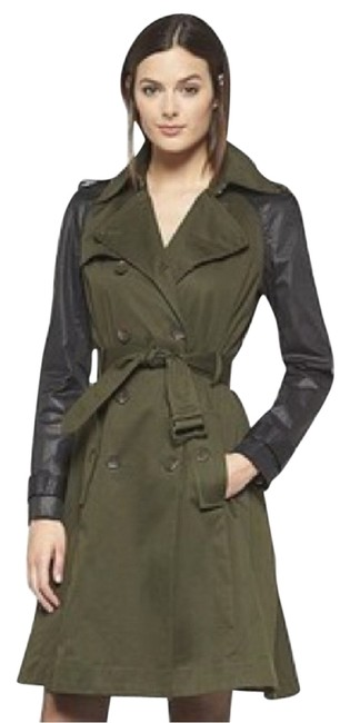 Item - Olive Green and Black Coat Size 2 (XS)