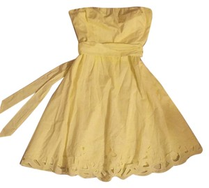 The Limited short dress Yellow on Tradesy