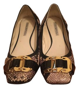 Via Spiga Black and gold Flats