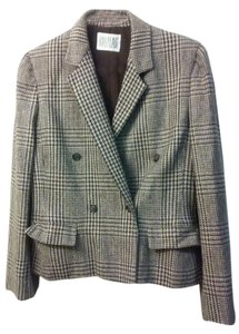 Bill Blass brown plaid Blazer