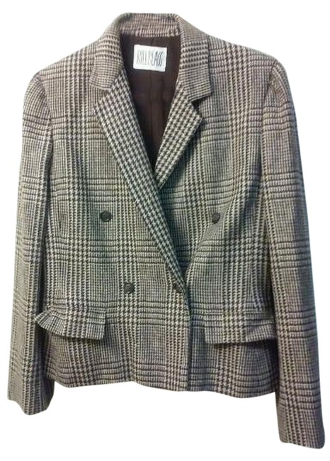 Preload https://img-static.tradesy.com/item/6681349/bill-blass-brown-plaid-blazer-size-8-m-0-0-650-650.jpg
