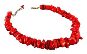 Other Authentic Red Coral Necklace 15.5 - 18