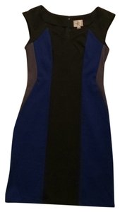 ECI New York short dress Black blue grey colorblock on Tradesy