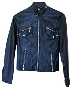 JouJou Sexy Moto Leather Faux Leather Motorcycle Jacket