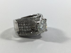 Custom Moissonite and Diamond Ring