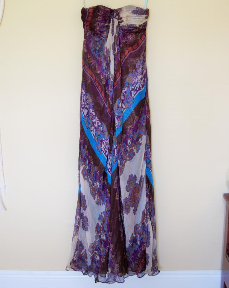 Marciano Silk Bohemian Gypsy Cocktail Prom Long Formal Dress Size 2