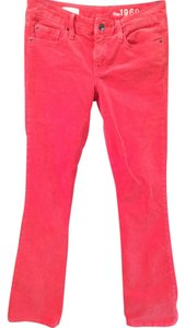 Gap Corduroy Boot Boot Cut Pants Red