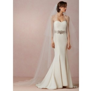 BHLDN Ivory Long Floating Catherdral Bridal Veil