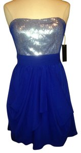 Aqua Strapless Sequin Size 8 Dress