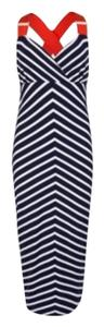 Black/White Stripes, Pink detail Maxi Dress by Ted Baker Summer