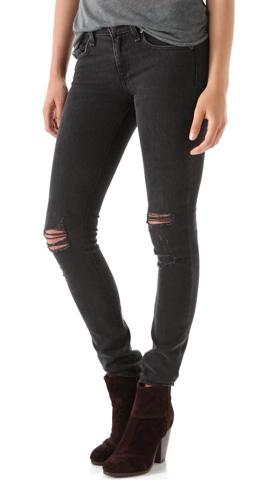 1850eabe2f7e Rag & Bone And Distressed Ripped Torn Destroyed Denim Skinny Jeans Image 6.  1234567