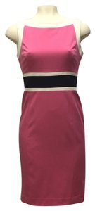 Nine West Pink Rose Combo Sleeveless Sheath Career Work Sheath Sheath Dress