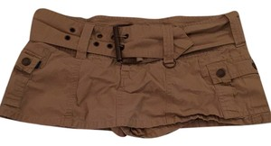 Abercrombie & Fitch Mini Skirt Khaki