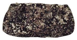New York & Company Black And Silver Clutch