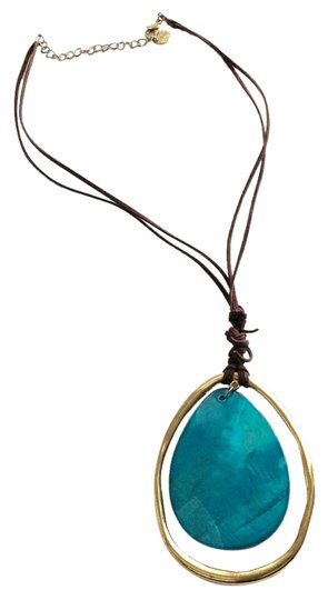 Preload https://item4.tradesy.com/images/turquoise-gold-and-brown-necklace-6691093-0-3.jpg?width=440&height=440