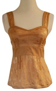 Marc Jacobs Mj Sexy Camisole Cami Out Date Casual Formal Sexy Corsette Clubbing Jacquard Top Tan / Light Brown