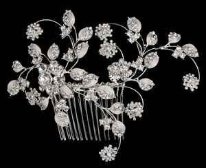 Leaf Pattern Bridal Comb