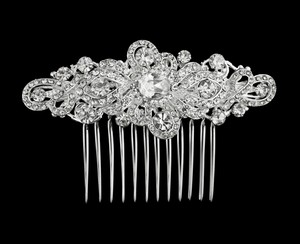 Scroll Pattern Bridal Comb