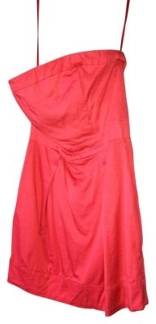 Preload https://img-static.tradesy.com/item/6694/french-connection-coral-strapless-cotton-above-knee-night-out-dress-size-6-s-0-0-650-650.jpg