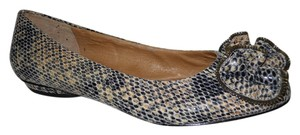 Corso Como Leather tan & black snakeskin print Flats