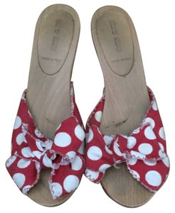 Miu Miu Bow Polka Dot Cute Girly Red Sandals