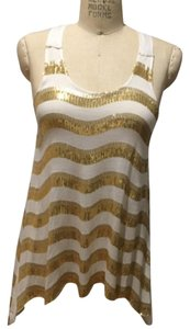 bebe Top White and gold