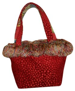 Handmade Tote in red