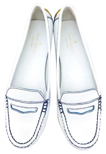 Kate Spade White Leather Driving New with Tags Flats Size US 6 Regular (M, B) Kate Spade White Leather Driving New with Tags Flats Size US 6 Regular (M, B) Image 1