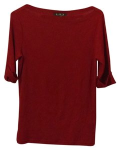 Ralph Lauren Top Cranberry Red