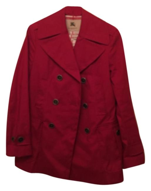 Preload https://item1.tradesy.com/images/burberry-london-red-6030469-trench-coat-size-12-l-6696265-0-0.jpg?width=400&height=650