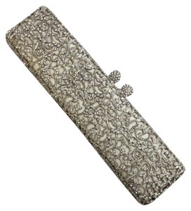 Ralph Lauren Collection Silver Clutch