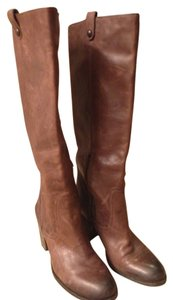 Vince Camuto Leather Riding Brown Boots