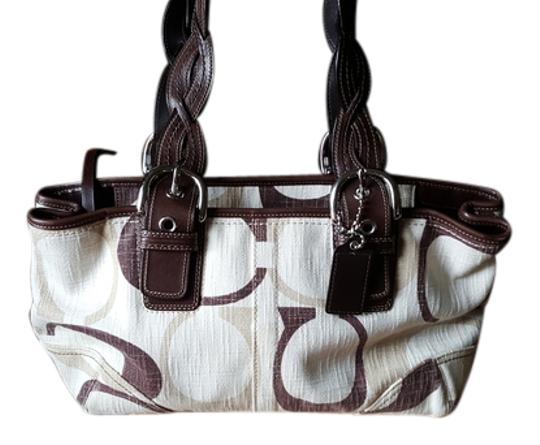 Preload https://item3.tradesy.com/images/coach-soho-with-braided-handles-beigeivorybrown-signature-jacquard-canvas-and-leather-tote-6712087-0-1.jpg?width=440&height=440